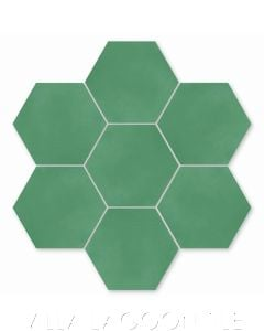 Solid Hex Monte Verde Cement Tile, SB-3005, from Villa Lagoon Tile.
