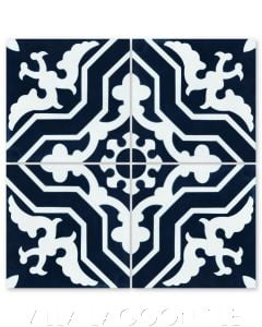 """Talia Navy"" Traditional Cement Tile, from Villa Lagoon Tile."