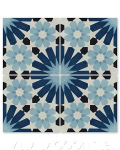 """""""Tangier Blues"""" Moroccan Cement Tile, from Villa Lagoon Tile."""