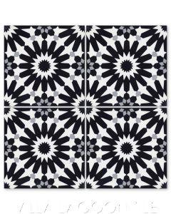 """Tangier Petite Sencillo"" Moroccan Cement Tile, from Villa Lagoon Tile."