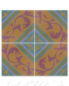 """Tango Vals"" Cuban Cement Tile, from Villa Lagoon Tile's Cuban Tile Collection."