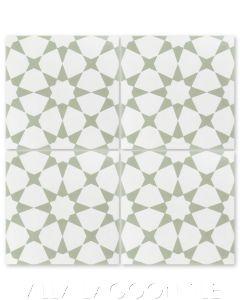 """Taza Green"" Moroccan Cement Tile, from Villa Lagoon Tile."