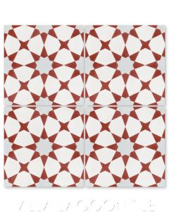 """""""Taza Red"""" Moroccan Cement Tile, from Villa Lagoon Tile."""