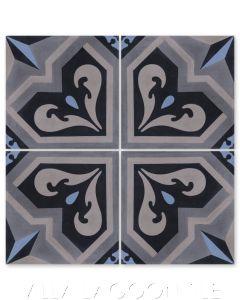 """Valencia Primero"" Traditional-Style Cement Tile, by Villa Lagoon Tile."