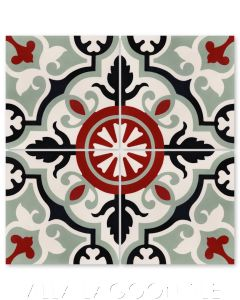 """Vienna Bloom"" Floral Cement Tile, from Villa Lagoon Tile."
