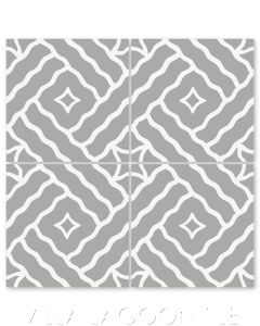 """""""Wiggle Room Pebble"""" Modern Cement Tile by Neyland Design, from Villa Lagoon Tile."""