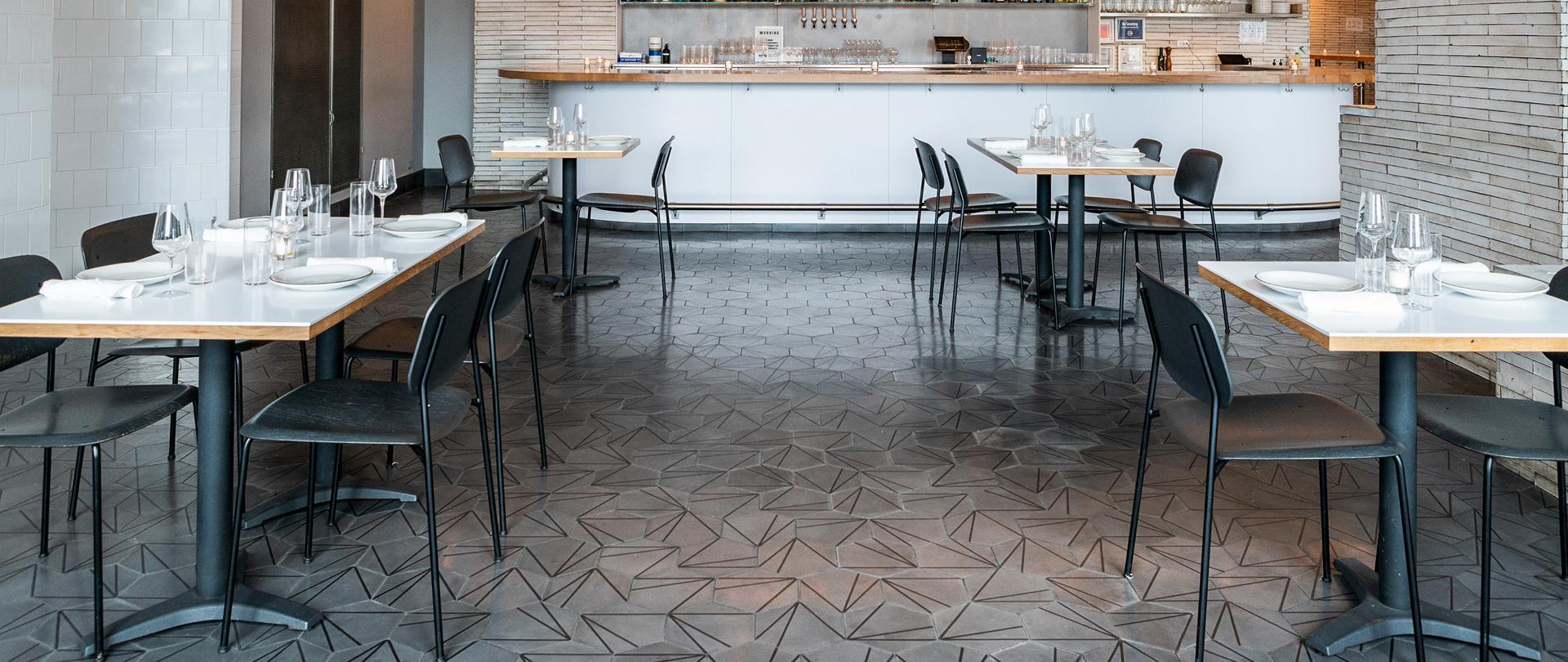 Crow's Feet Seagull Cement Tile, by Villa Lagoon Tile.