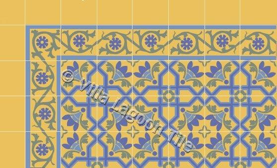 "Havana Style No. 4 ""Fancy"" Cement Tile"