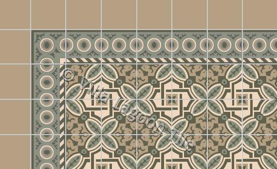 "Havana Style No. 15 ""Fontaine"" Cement Tile"
