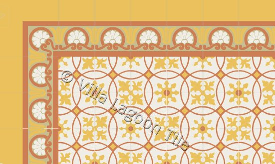 "Havana Style No. 10 ""Baragua"" Cement Tile"
